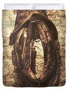 Without Horse Duvet Cover by Wim Lanclus
