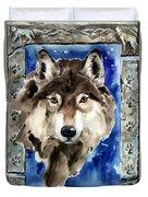 Wolf Duvet Cover by Nadi Spencer