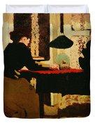 Women by Lamplight Duvet Cover by vVuillard