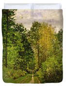 Wooded Path Duvet Cover by Claude Monet
