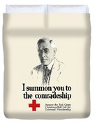Woodrow Wison Red Cross Roll Call Duvet Cover by War Is Hell Store