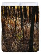 Woods - 2 Duvet Cover by Linda Knorr Shafer