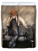 Woodworker - The Chair Maker  Duvet Cover by Mike Savad