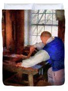 Woodworker - The master carpenter Duvet Cover by Mike Savad