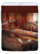 Woodworker - The Table Saw Duvet Cover by Mike Savad