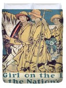 World War I YWCA poster  Duvet Cover by Edward Penfield