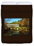 Worrall's Bridge Vermont - New England Fall Landscape Covered Bridge Duvet Cover by Jon Holiday