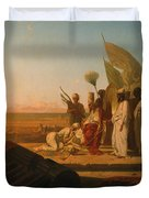 Xerxes at the Hellespont Duvet Cover by Jean Adrien Guignet
