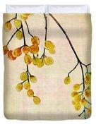 Yellow Berries Duvet Cover by Judi Bagwell