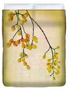 Yellow Berries Duvet Cover by Judi Bagwell