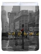 Yellow Cabs New York Duvet Cover by Andrew Fare