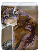 You Talking To Me Duvet Cover by J W Baker
