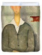 Young boy with red hair Duvet Cover by Amedeo Modigliani
