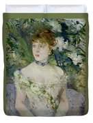 Young Girl In A Ball Gown Duvet Cover by Berthe Morisot