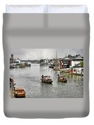 Zhujiajiao - A Glimpse Of Ancient Yangtze Delta Life Duvet Cover by Christine Till