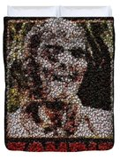 Zombie Bottle Cap Mosaic Duvet Cover by Paul Van Scott