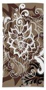 Coffee Flowers 10 Bath Sheet by Angelina Vick