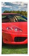 2001 Ferrari 360 Modena Bath Towel by Sebastian Musial