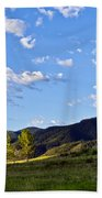 When Clouds Meet Mountains Bath Towel by Angelina Vick