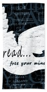 Read Free Your Mind Teal Bath Towel by Angelina Vick