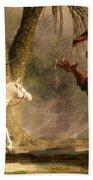 Saint George And The Dragon Bath Sheet by Daniel Eskridge