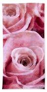Soft Pink Roses Bath Sheet by Angelina Vick