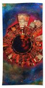 Wee Manhattan Planet - Artist Rendition Bath Towel by Nikki Marie Smith