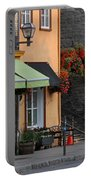 Arch Of Flowers In Old Quebec City Portable Battery Charger by Juergen Roth