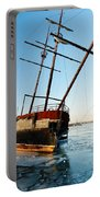 Derelict Faux Tall Ship Portable Battery Charger by Trever Miller