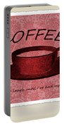 Coffee Flowers Scrapbook Triptych 1  Portable Battery Charger by Angelina Vick