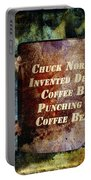 Gritty Chuck Norris 2 Portable Battery Charger by Angelina Vick
