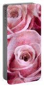 Soft Pink Roses Portable Battery Charger by Angelina Vick