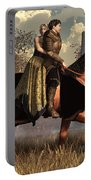 The Golden Knight And His Lady Portable Battery Charger by Daniel Eskridge