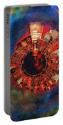 Wee Manhattan Planet - Artist Rendition Portable Battery Charger by Nikki Marie Smith
