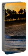 Sunset At The Beach Portable Battery Charger by Sebastian Musial