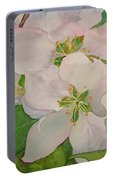 Apple Blossoms Portable Battery Charger by Sharon E Allen