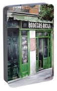 Old Tavern-madrid Portable Battery Charger by Tomas Castano