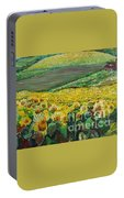 Sunflowers In Provence Portable Battery Charger by Nadine Rippelmeyer