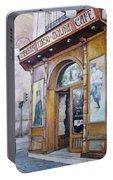 Tirso De Molina Old Tavern Portable Battery Charger by Tomas Castano