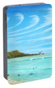 Waikiki Portable Battery Charger by Jerome Stumphauzer