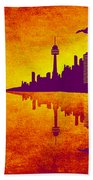 It Was Us That Scorched The Sky Beach Towel by Angelina Vick