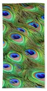 Peacock Feather Cascade Beach Towel by Angelina Vick