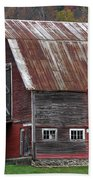 Vermont Barn Art Beach Towel by Juergen Roth