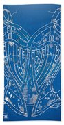 Corset Patent Series 1905 French Beach Towel by Nikki Marie Smith