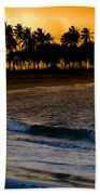 Sunset At The Beach Beach Towel by Sebastian Musial