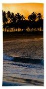 Sunset At The Beach Beach Sheet by Sebastian Musial