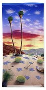 Desert Sunrise Beach Towel by Snake Jagger