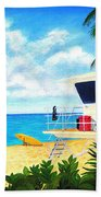 Hawaii North Shore Banzai Pipeline Beach Towel by Jerome Stumphauzer