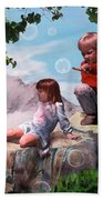 Mount Innocence Beach Towel by Steve Karol