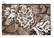 Coffee Flowers 10 Carry-all Pouch by Angelina Vick